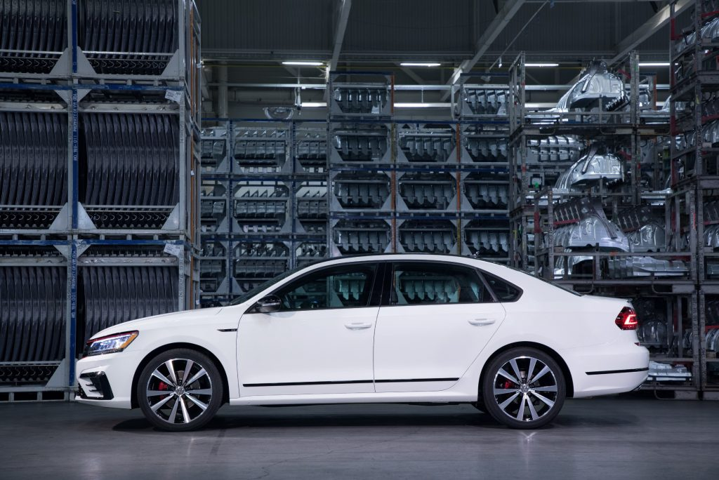 2018 Passat GT from the side