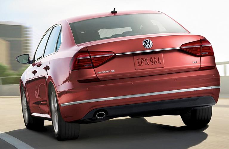2018 VW Passat's rear fascia