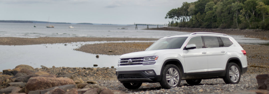 2018 Volkswagen Atlas parked by the water