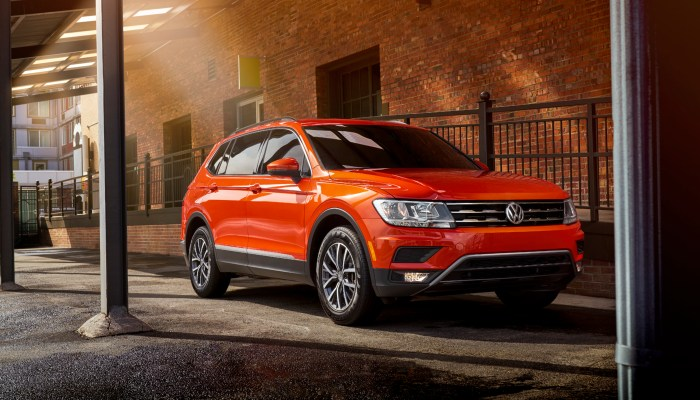 2018 Volkswagen Tiguan parked in front of a building