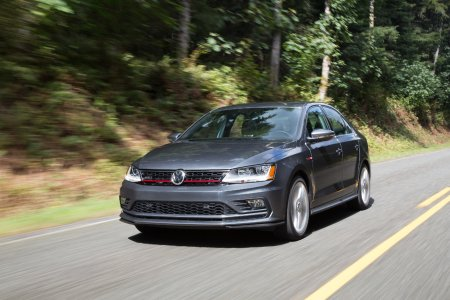 2017 Volkswagen Jetta driving down the road