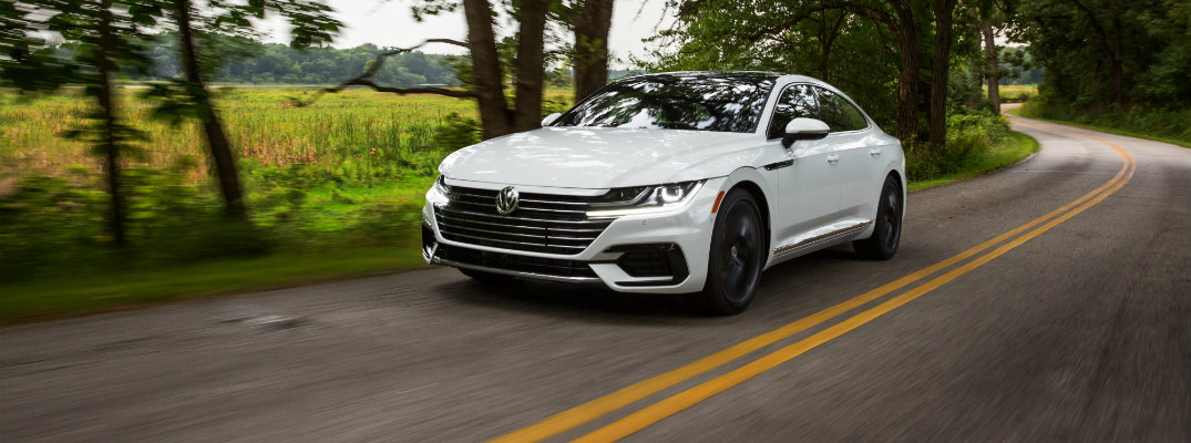 2019 VW Arteon driving on the road