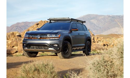 2019 VW Atlas Basecamp on a trail