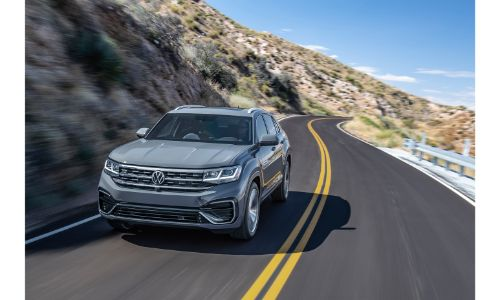 2020 VW Atlas Cross Sport on the highway