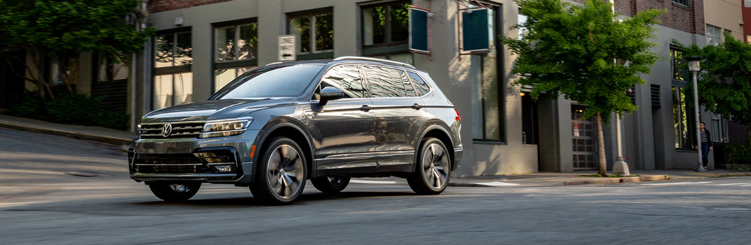 2020 VW Tiguan downtown by an office