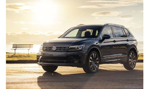2020 VW Tiguan at sunset
