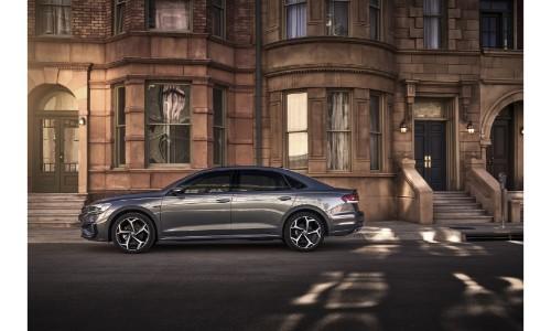 2020 VW Passat outside an apartment building