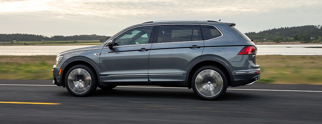 2020 Volkswagen Tiguan driving on an open road