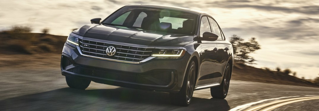 2020 VW Passat driving on a sunny day