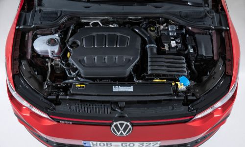 VW Golf GTI overhead engine view