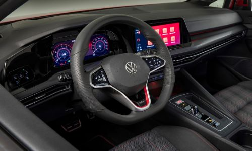 VW Golf GTI steering wheel