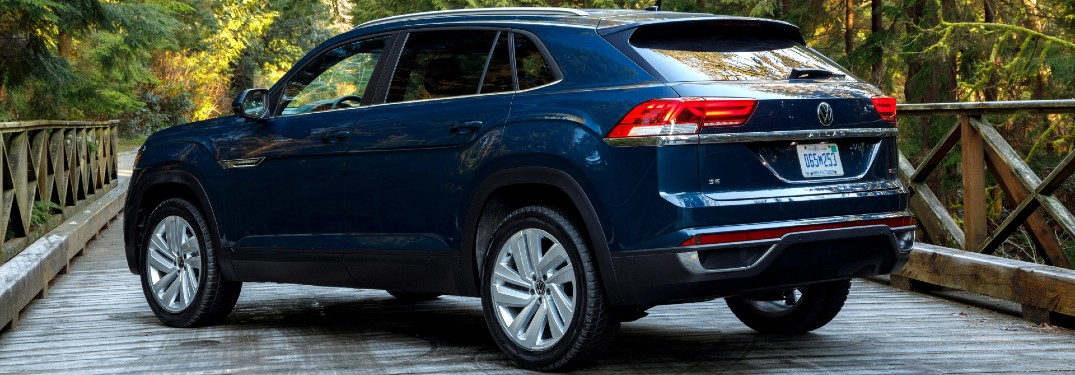 2020 VW Atlas Cross Sport parked on a bridge