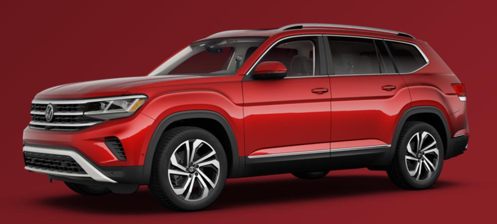 2021 Volkswagen Atlas Aurora Red Metallic