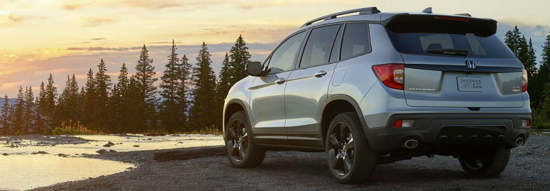 2019 Honda Passport exterior back fascia and drivers side