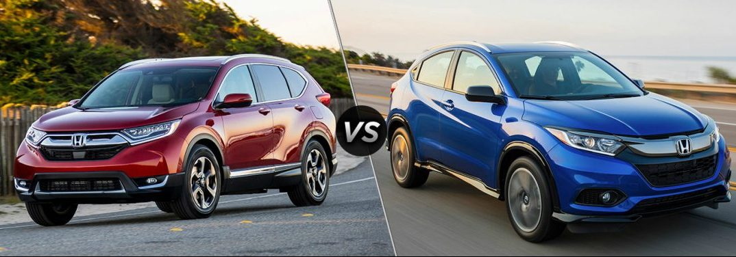 What's the difference between the 2019 Honda CR-V and 2019 Honda HR-V?