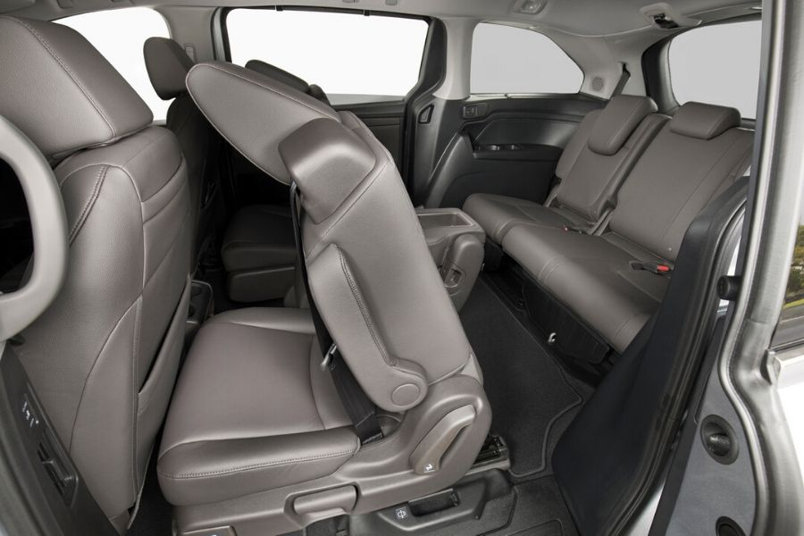 Second and Third-row seats on Honda Odyssey
