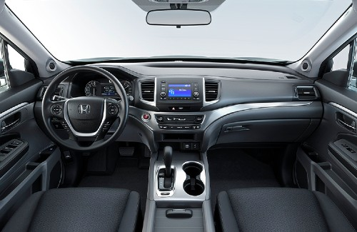 2020 Honda Ridgeline interior dashboard steering wheel center console and touch-screen display