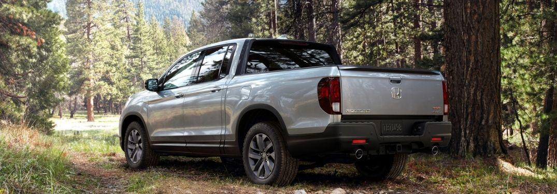 2021 Honda Ridgeline in the forest