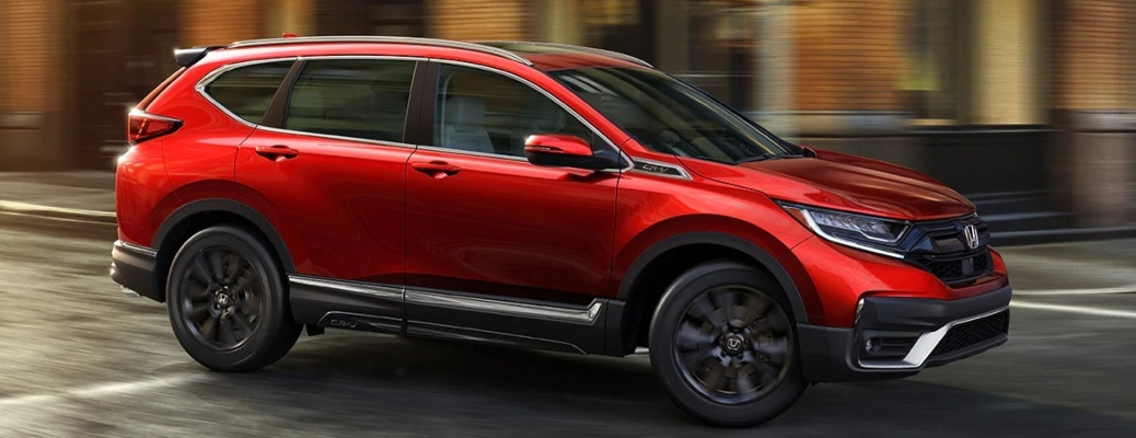 2021 Honda CR-V red side view