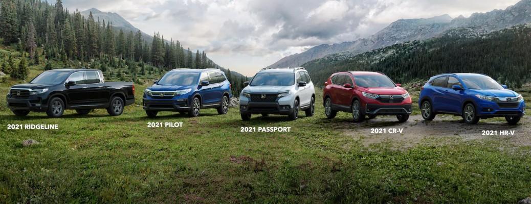 2021 Honda SUV and crossover lineup