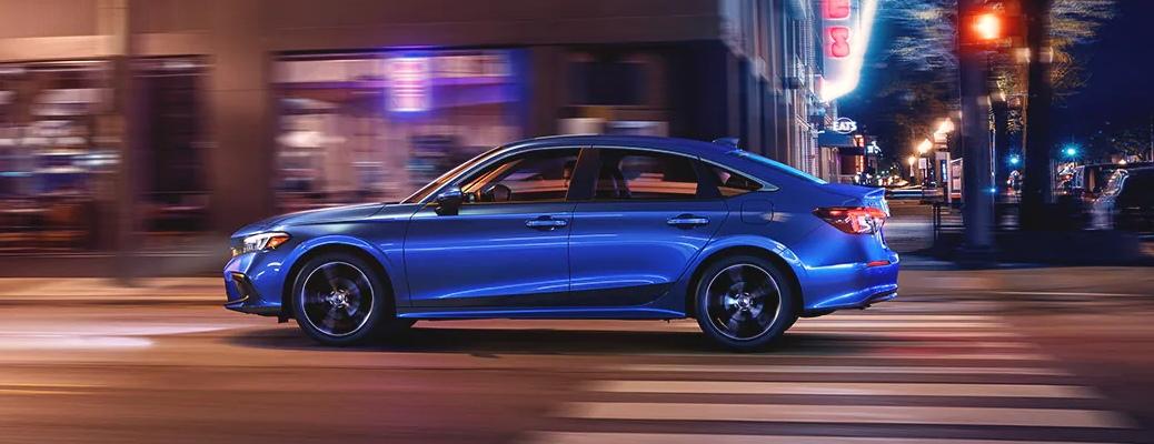 2022 Honda Civic blue side view