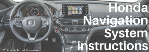 HOnda Navigation Instructions On A 2018 Honda Accord Front Interior  Background
