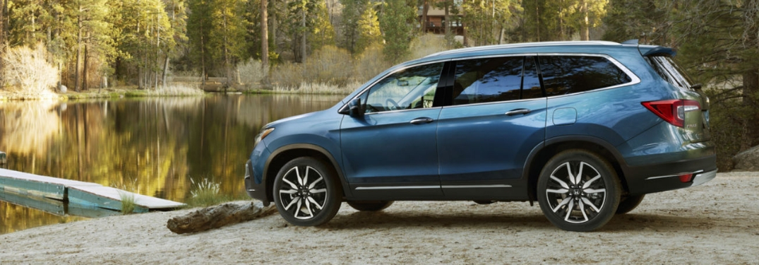 2019 Honda Pilot parked by water