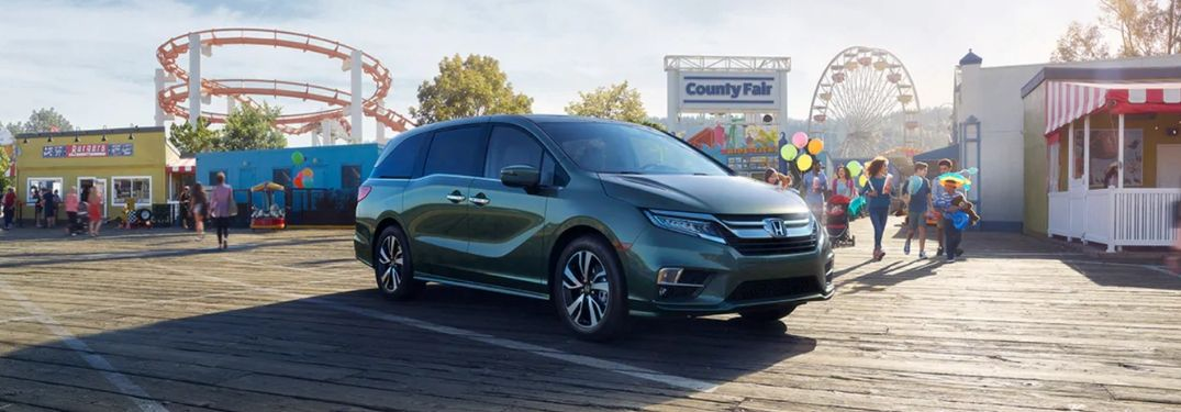 2020 Honda Odyssey on fairgrounds