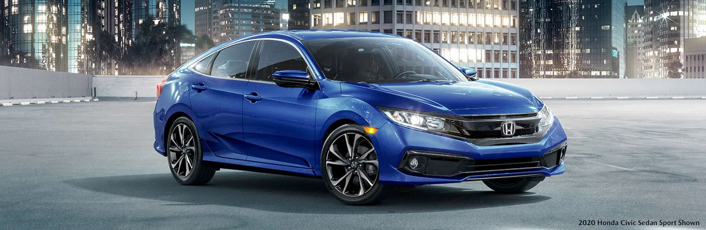 2020 Honda Civic Sedan in empty parking lot