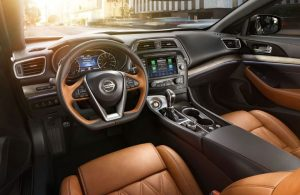 2019 Nissan Maxima front interior seats and dashboard
