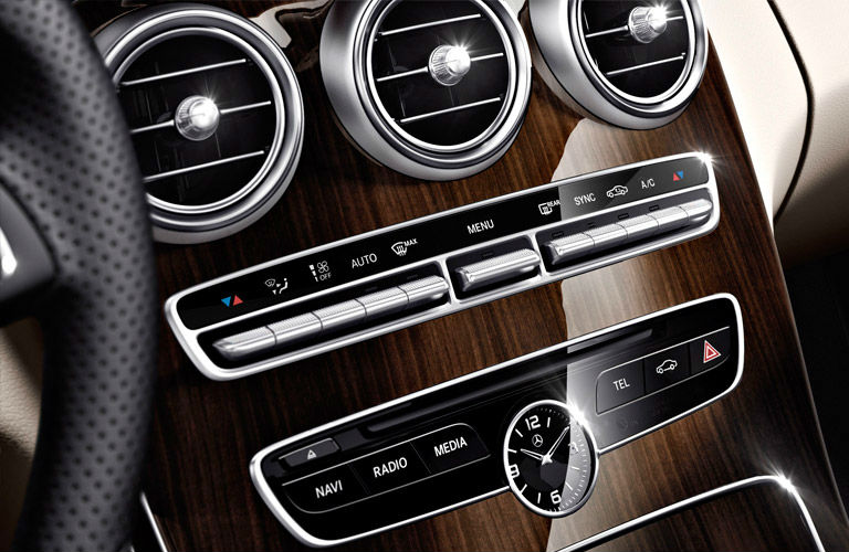 2016-Mercedes-Benz-C-Class-center-console_o - Autos of Dallas