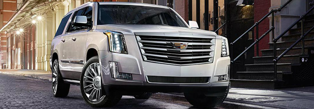 2018 Cadillac Escalade in white - front view