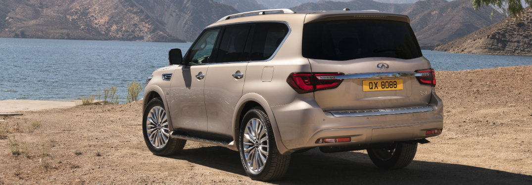 rear view of the 2018 INFINITI QX80