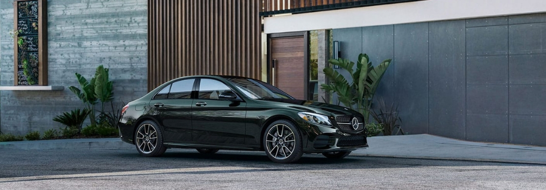 Green 2019 Mercedes-Benz C-Class Parked in a Driveway