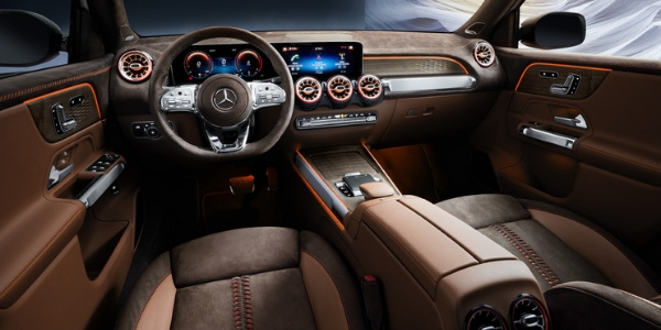 Mercedes-Benz GLB Concept Steering Wheel, Dashboard and Touchscreen Display