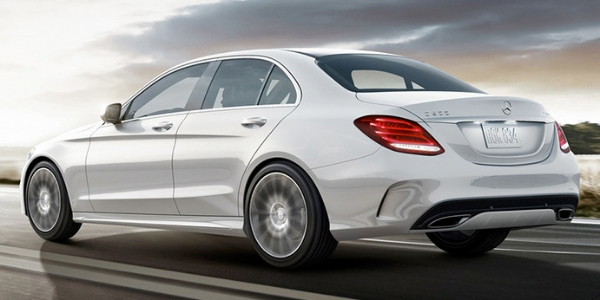 White 2019 Mercedes-Benz C-Class on a Road