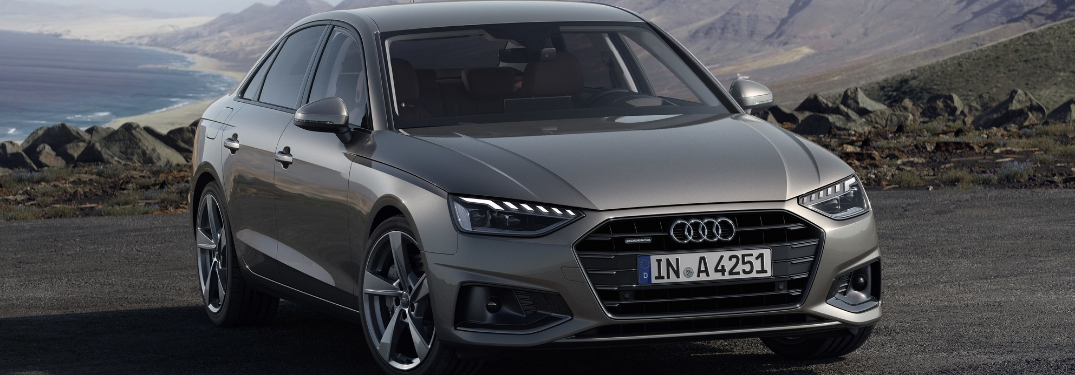 Gray 2020 Audi A4 Sedan on Mountain Road