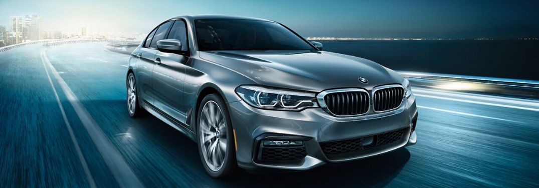 Silver 2020 BMW 5 Series Front Exterior on Freeway