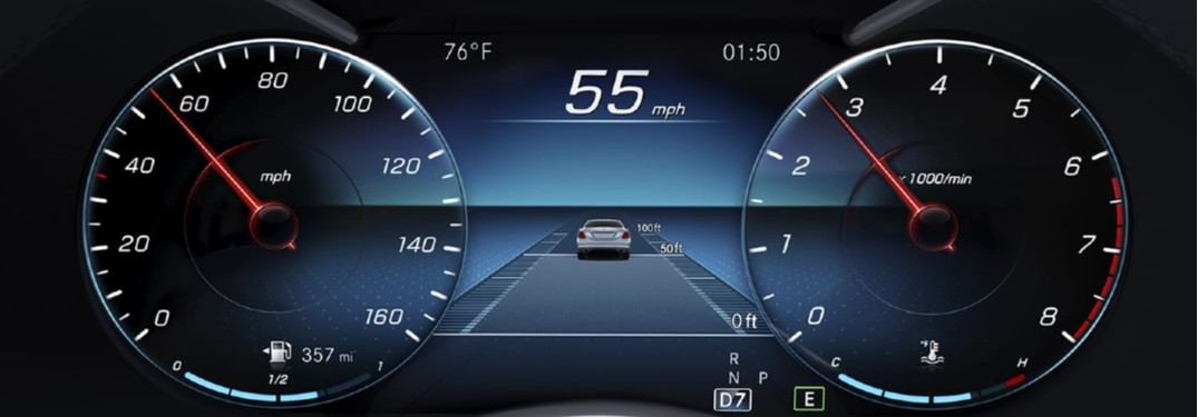 Close Up of 2020 Mercedes-Benz C-Class Digital Dashboard Display