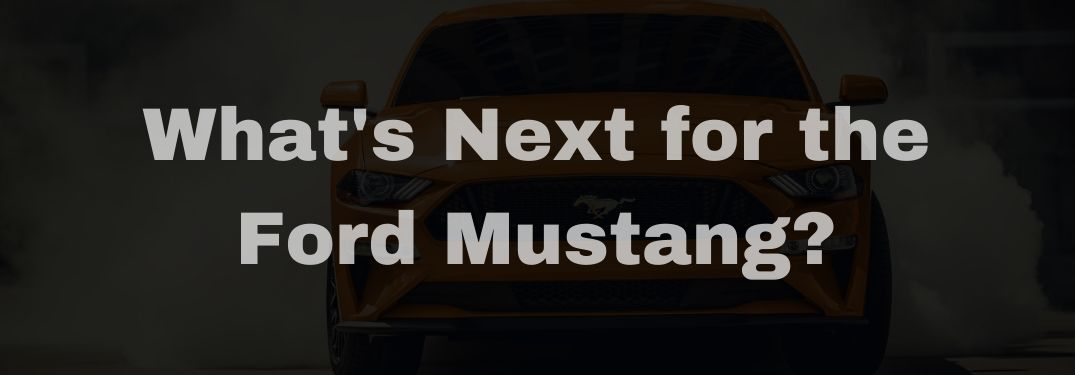 2020 Ford Mustang GT500 Grille in Shadow with White What's Next for the Ford Mustang? Text