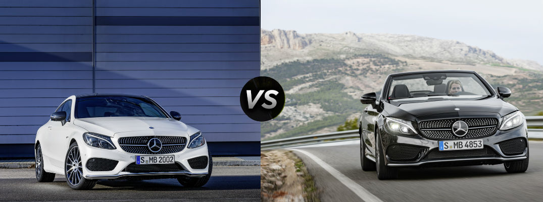 2017 mercedes benz c class coupe vs cabriolet for How much is service c for mercedes benz