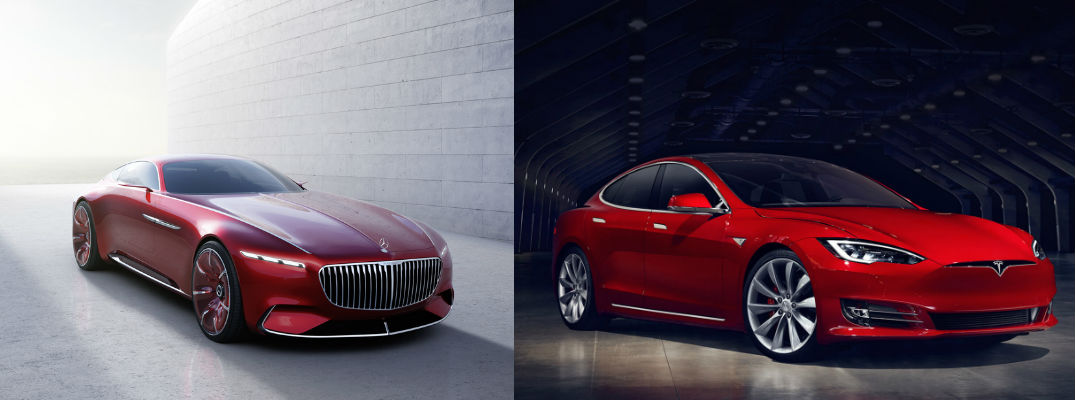 Vision Mercedes Maybach 6 Vs Tesla Model S