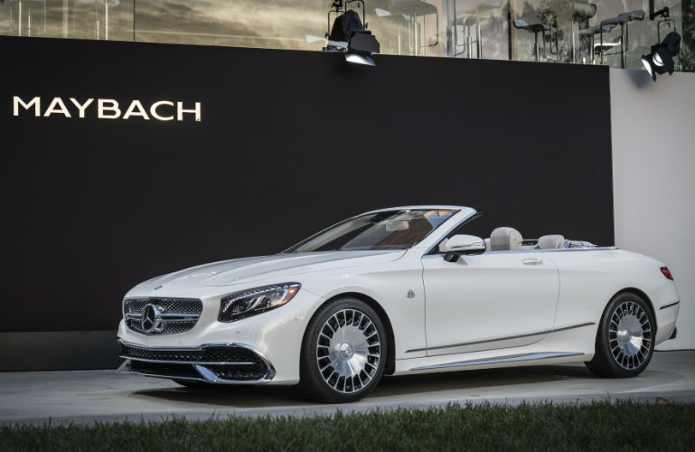 2018 Mercedes Maybach S650 Cabriolet White Exterior Top Up O