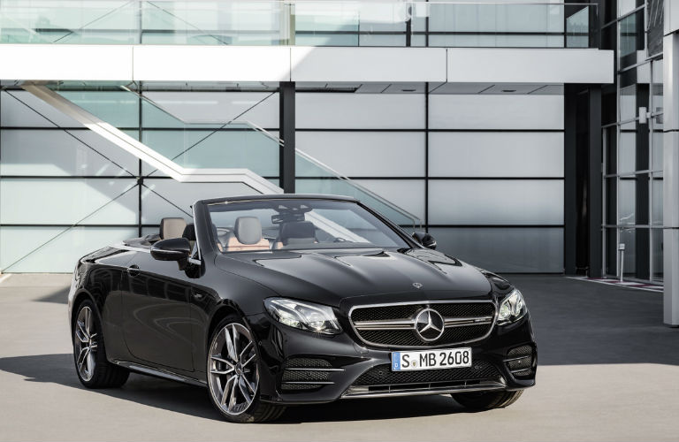 2019 E 53 Cabriolet in Black Front View