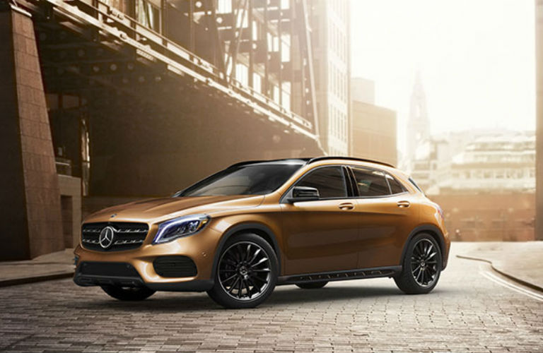 2018 GLA SUV in Yellow