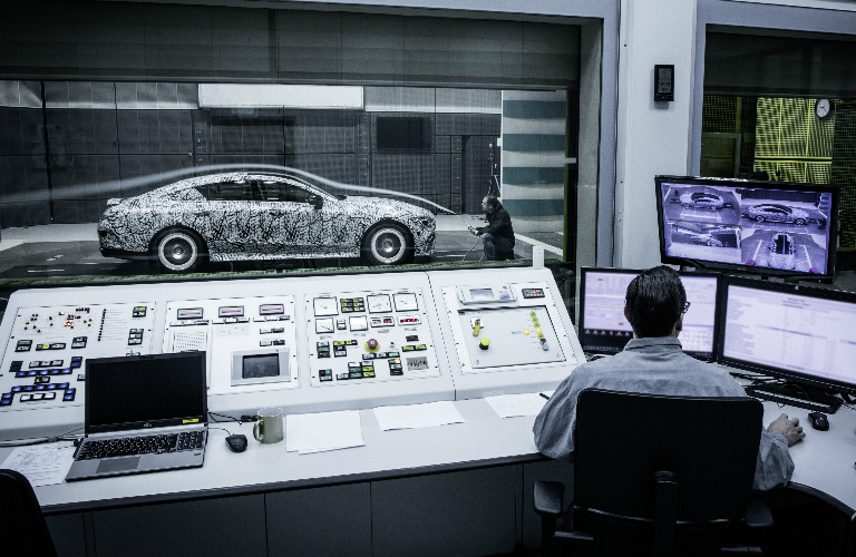 AMG GT Coupe aerodynamics test and lab