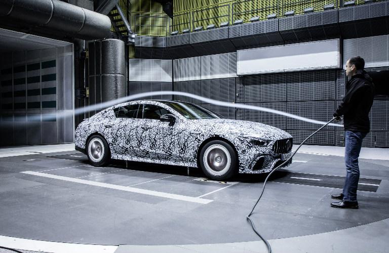 AMG GT Coupe undergoing aerodynamics test