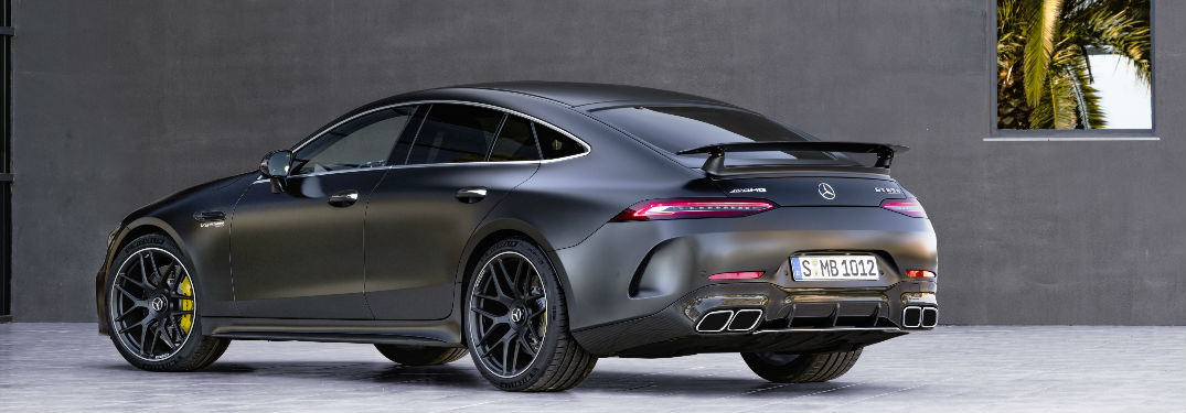 2019 AMG GT Coupe in Black Rear View