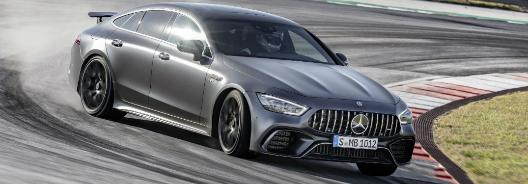 2019 AMG GT Coupe on a racetrack