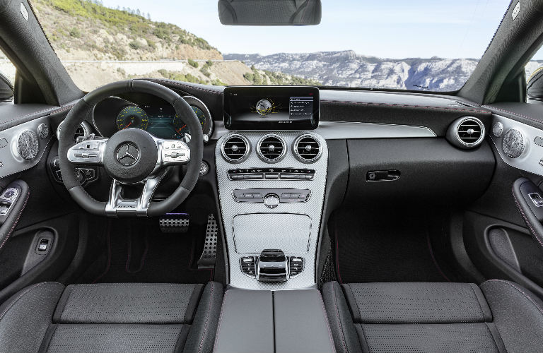 2019 c class coupe command center o mercedes benz of. Black Bedroom Furniture Sets. Home Design Ideas
